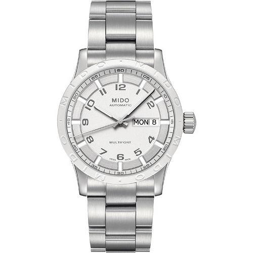 MIDO Multifort 先鋒系列時尚機械腕錶-白x銀 M0188301101200