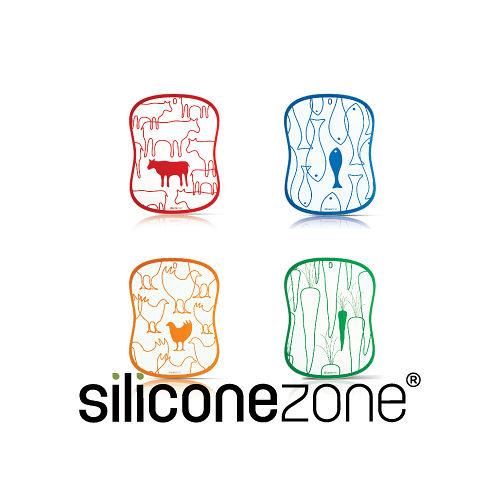 【Siliconezone】施理康食材分類衛生調理切菜板(4入裝)