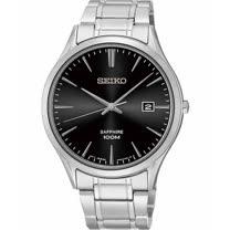 SEIKO 時尚玩家藍寶石水晶腕錶-黑 7N42-0FW0D