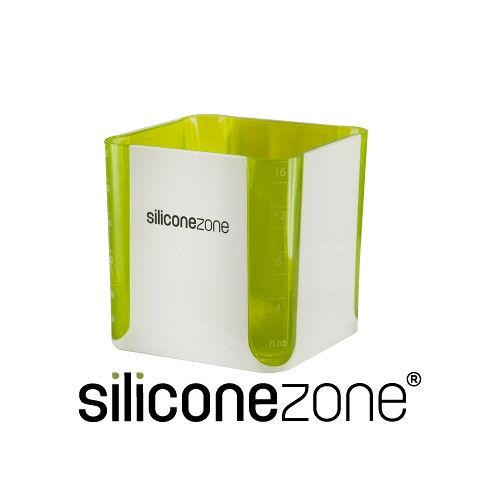 【Siliconezone】520ml施理康耐熱立方造型計量杯&計量匙-綠