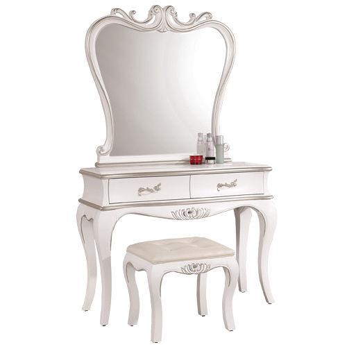 HAPPYHOME 凱薩琳3.4尺法式化妝台039-3(含椅子)