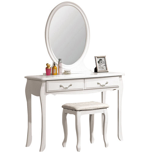 HAPPYHOME 仙朵拉3.2尺化妝台067-2(含椅子)