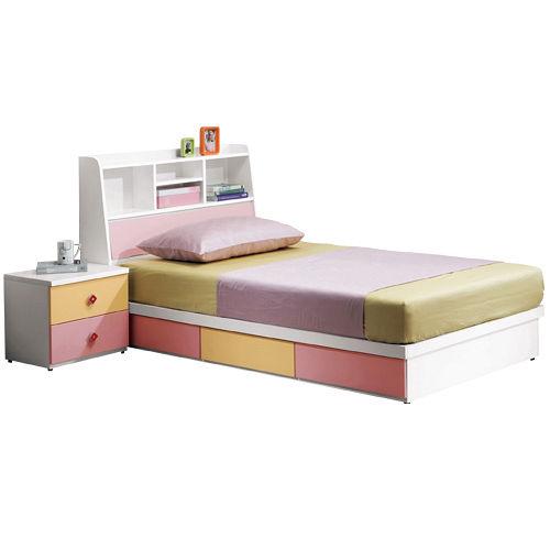 HAPPYHOME 安妮塔3.5尺書架型加大單人床149-1(只含床頭-床底-不含床墊、床頭櫃)