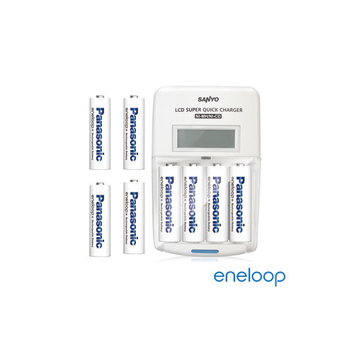Panasonic國際牌eneloop低自放電充電電池組(搭配液晶充電器+3號4入+4號4入)