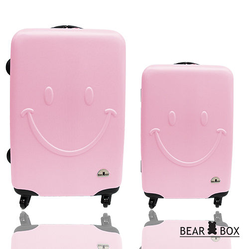 bear box一見你就笑ABS輕硬殼行李箱旅行箱登機箱拉桿箱2件組28+20吋
