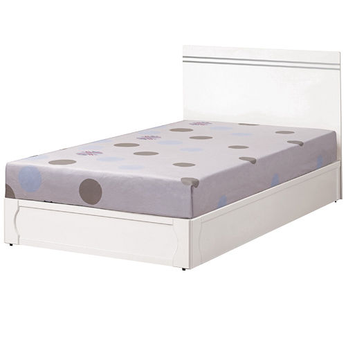 HAPPYHOME 艾莉絲3.5尺床片型單人床178-3(只含床頭-床底-不含床墊)