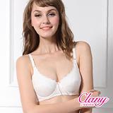 【可蘭霓Clany】舒適軟鋼玫瑰蕾絲邊BC內衣 浪漫白 6620-22