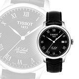 TISSOT Le Locle 力洛克圖騰紋機械錶-黑 T41142353
