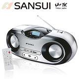 福利品-山水SANSUI 藍芽/廣播/USB/MP3/CD/AUX手提式音響(SB-99N)