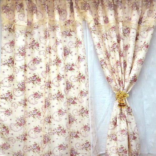 【愛之心】寬400CMx高240CM(二用穿掛式)高級(雙層)印花遮光-落地窗簾-紫色