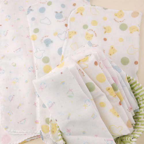 DF Queenin - 寶寶紗布手帕/紗布洗澡巾/口水巾(12入)