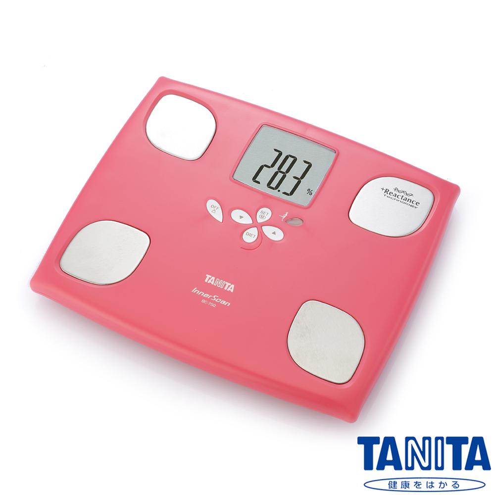 日本TANITA 十合一女性減重模式體組成計 BC750-玫瑰紅