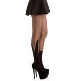 【摩達客】英國進口義大利製Pamela Mann 鱷魚嘴圖紋透明絲襪網襪彈性褲襪