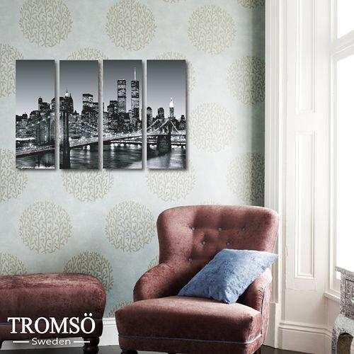 TROMSO時尚無框畫/紐約鐵橋迷你款