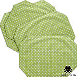 《M.B.H─坎蒂糖果》PVC防潑水餐墊(綠)(4入)