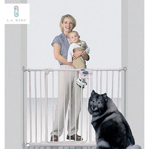 L.A. Baby 美國加州貝比 加高加寬-安全自動上鎖門欄/寵物門欄/兒童門欄(贈兩支延伸片)