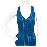 GUCCI 湖水藍色V領無袖針織衫上衣【M號】