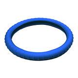 3D 矽膠方向盤套 - 藍