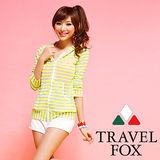 【TRAVELFOX 旅狐】大女長袖外搭罩衫C14711