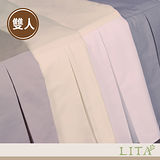 LITA麗塔(帝王摺式雙人床裙-經典四色)小米/米白/雪白/灰色