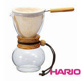 HARIO 濾布橄欖木手沖咖啡壺 3~4杯 DPW-3-OV