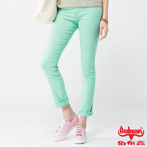 BOBSON 女款高腰大彈力緊身褲(果綠8110-40)