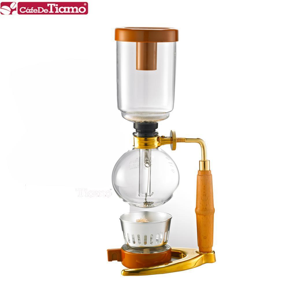 Tiamo TCA-3 虹吸壺-附酒精燈(金色立架) 三人份 (HG2374)
