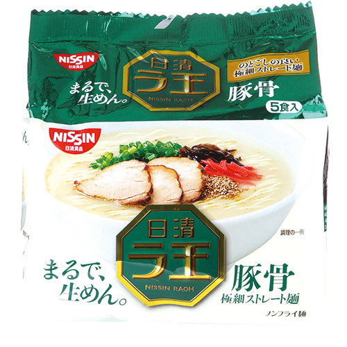 日本日清拉王泡麵豚骨風味84g*5