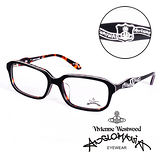 Vivienne Westwood 英國Anglomania英倫龐克徽章光學眼鏡((黑+琥珀) AN24203