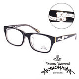Vivienne Westwood 英國Anglomania英倫龐克徽章光學眼鏡(黑)AN24605