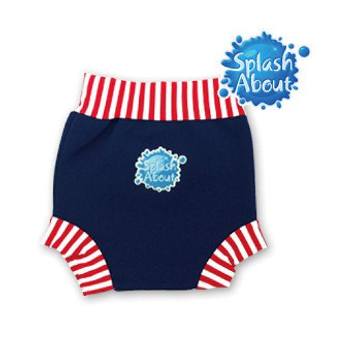 潑寶 Splash About - Happy Nappy 游泳尿布褲 - 紅白條紋 / 海軍藍