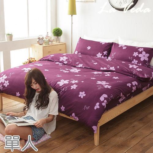 La Veda【櫻為有你】單人純棉兩用被床包組