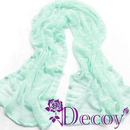 《Decoy》艷夏防曬*百變造型披肩/綠