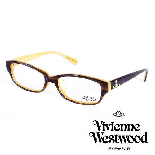 Vivienne Westwood 英國薇薇安魏斯伍德立體浮雕七彩土星還款(咖啡+淡黃)VW27504
