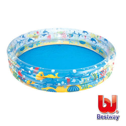 《購犀利》美國品牌【Bestway】海底世界三層充氣泳池
