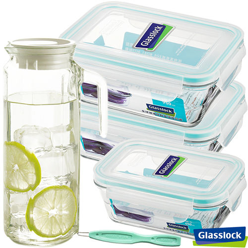 Glasslock強化玻璃微波保鮮盒 - 美味儲藏5件組
