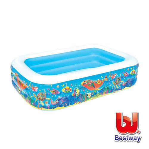 《購犀利》美國品牌【Bestway】海洋生物充氣水池長229cm