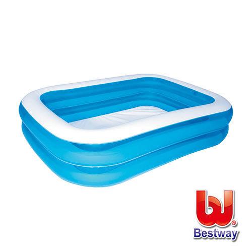 《購犀利》美國品牌【Bestway】方型充氣水池長201cm