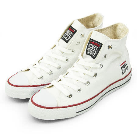 男 VISION STREET WEAR 經典帆布鞋 白 V22012 -friDay購物