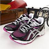 女 asics慢跑鞋 EQUATION 6 桃黑白--T2D7N-3501