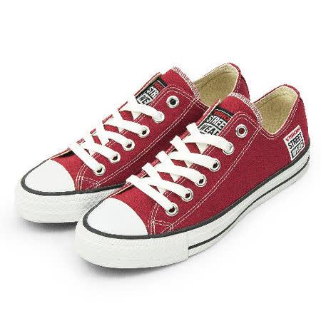 男 VISION STREET WEAR 經典帆布鞋 棗紅 V22009 -friDay購物