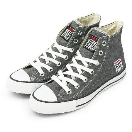 女 VISION STREET WEAR 經典帆布鞋 灰 V22003 -friDay購物