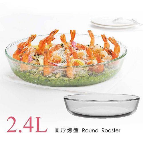 SYG台玻-耐熱玻璃圓形烤盤2.4L