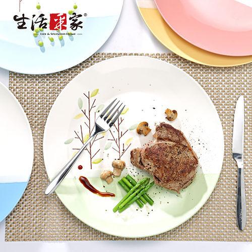 【生活采家】格拉小樹林系列10吋平盤5入裝#28025