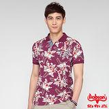 BOBSON 男款合身版POLO短袖上衣(紫紅24041-63)