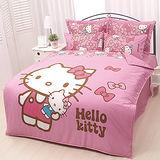 【享夢城堡】HELLO KITTY 我的娃娃系列-雙人純棉六件式床罩組