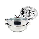 【鍋霸】34CM不鏽鋼雙層霸王蒸煮鍋 095GU-296