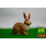 【MOJO FUN 動物模型】動物星球頻道獨家授權 - 白褐色小兔