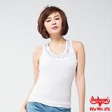 BOBSON 女款燙貼鑽鋁背心(白24071-80)