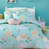 OLIVIA 《肯亞大冒險 綠》特大雙人床包鋪棉冬夏兩用被套組